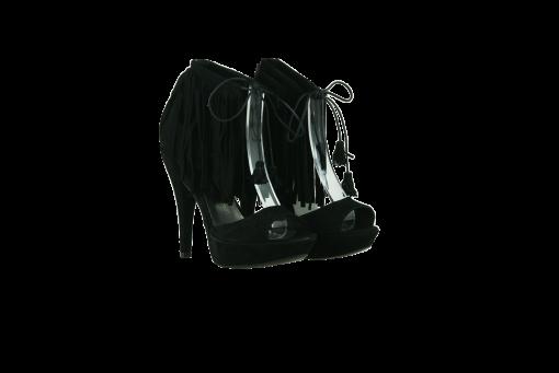Дамски сандали от естествен велур в черно