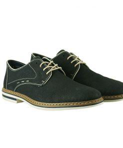 Мъжки обувки в тъмно син цвят от естествен набук B/143 RIEKER