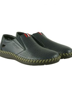 Мъжки ръчно шити обувки от естествена кожа 7/14-blue RIEKER
