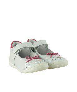 Детски обувки от естествена кожа в бяло и розово