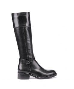 Ежедневни дамски ботуши от естествена кожа в черен цвят 600-nero