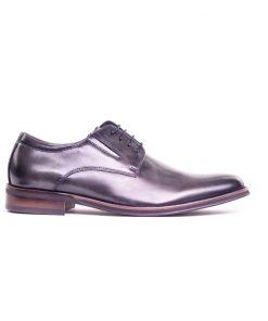 Мъжки обувки в тъмно сиво от естествена кожа 1325