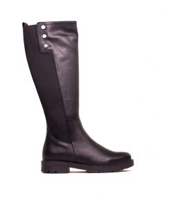 Дамски ботуши от естествена кожа в черно DM/504