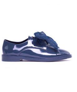 Ежедневни дамски обувки от естествен син лак 719А