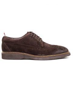 Мъжки обувки от естествен син велур DANIELLI