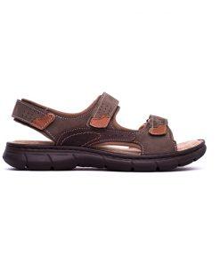 Мъжки сандали от набук в зелено-214