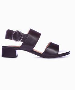 Дамски сандали на нисък ток в черно