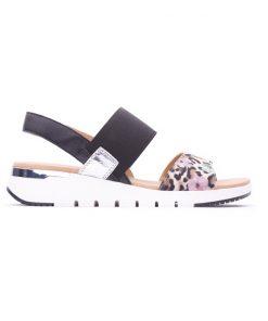 Ежедневни дамски сандали от естествена кожа със леопардов принт