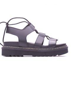 Ежедневни дамски сандали на платформа в черно DIMA-241