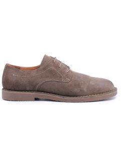 Мъжки обувки в цвят каки от естествен велур-2005/1А