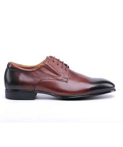 Мъжки обувки от мека напа в кафяво с опушен ефект/917 Danielli