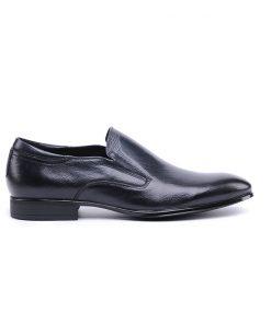 Елегантни мъжки обувки от естествена кожа в черно-916/black