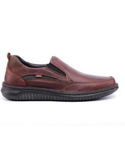 Мъжки обувки от естествена лицева кожа в цвят коняк-343
