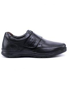 Ежедневни мъжки обувки в черно от мека естествена кожа-177