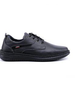 Мъжки обувки от мека напа в черно-342