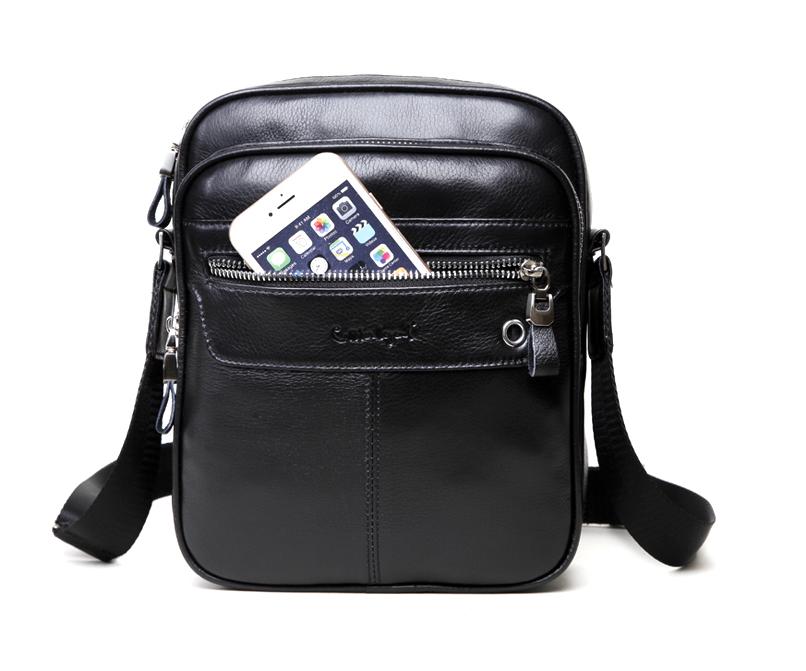 Мъжка чанта от естествена кожа 0700501/1-black