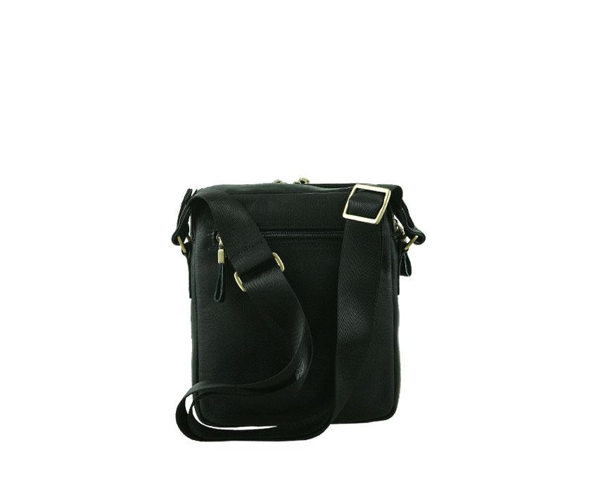 Мъжка чанта от черна естествена кожа
