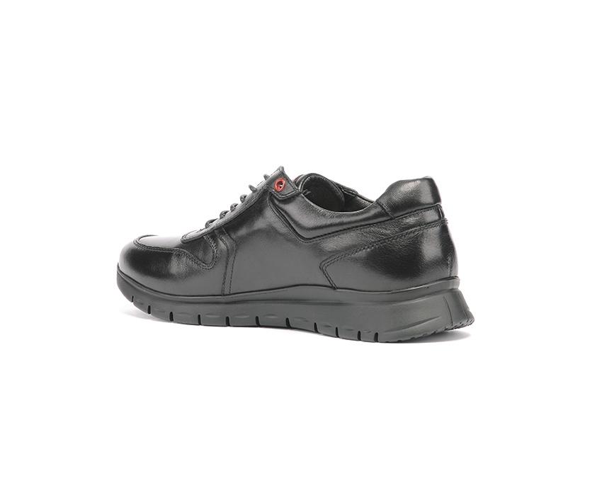Ежедневни мъжки обувки от естествена кожа в черно и бордо
