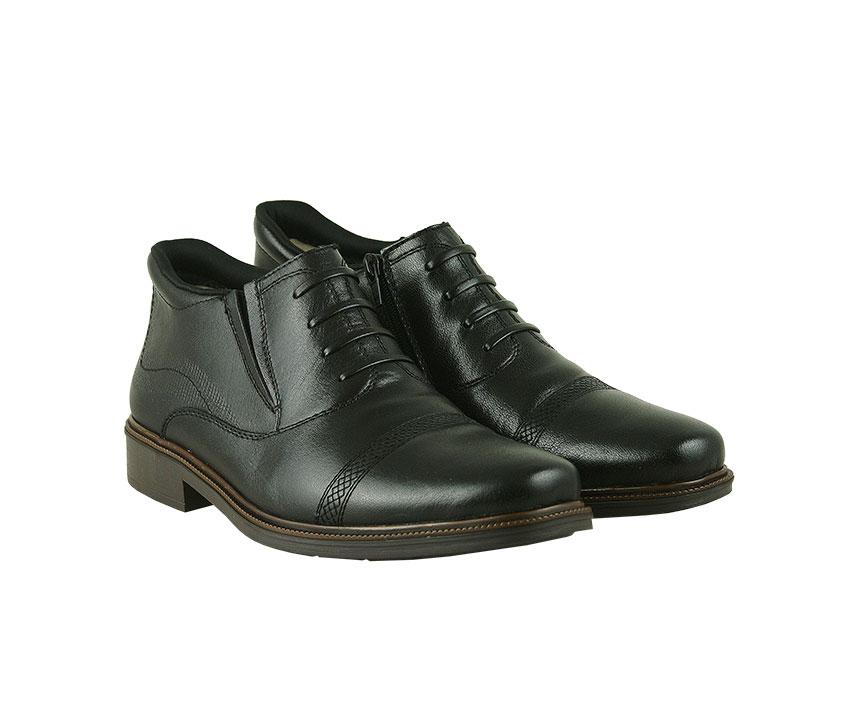 Елегантни мъжки боти в черно от естествена кожа 89/00-black