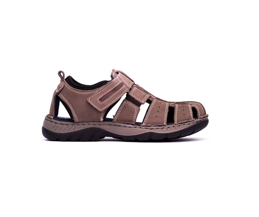Мъжки сандали в цвят таупе от набук-280