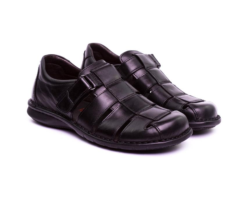 Мъжки обувки в черно от естествена кожа-807