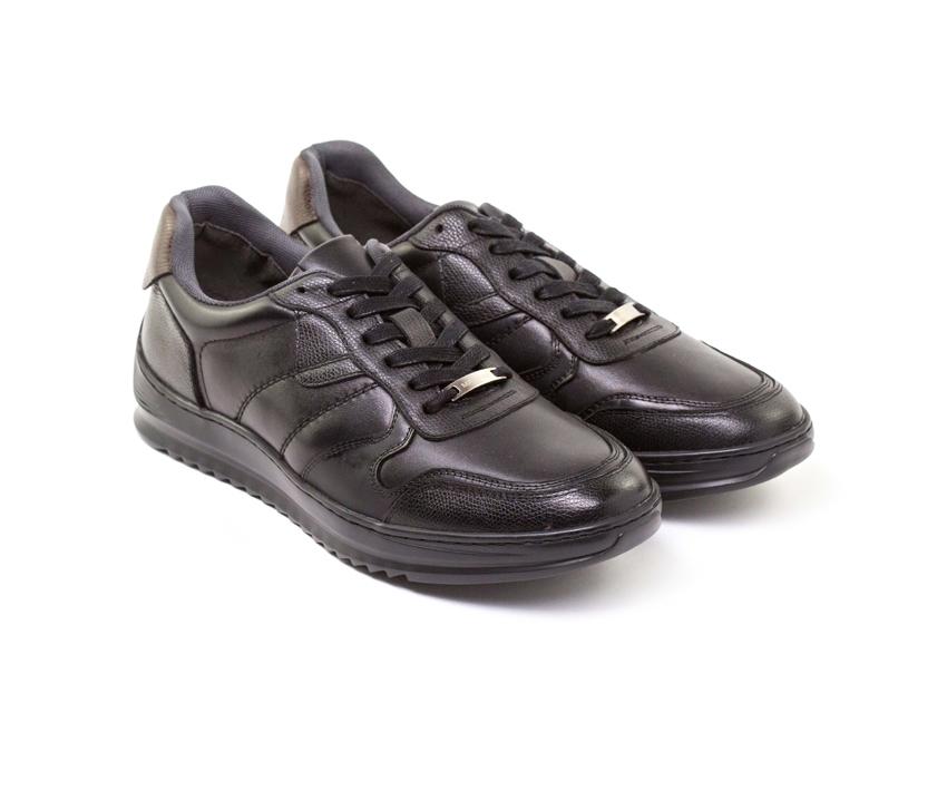 Ежедневни мъжки обувки от мека напа в черно 437