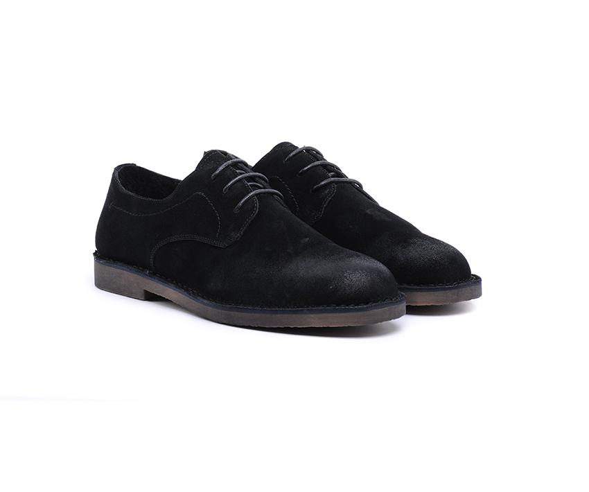 Мъжки обувки DANIELLI от естествен велур в черно-2005/1A