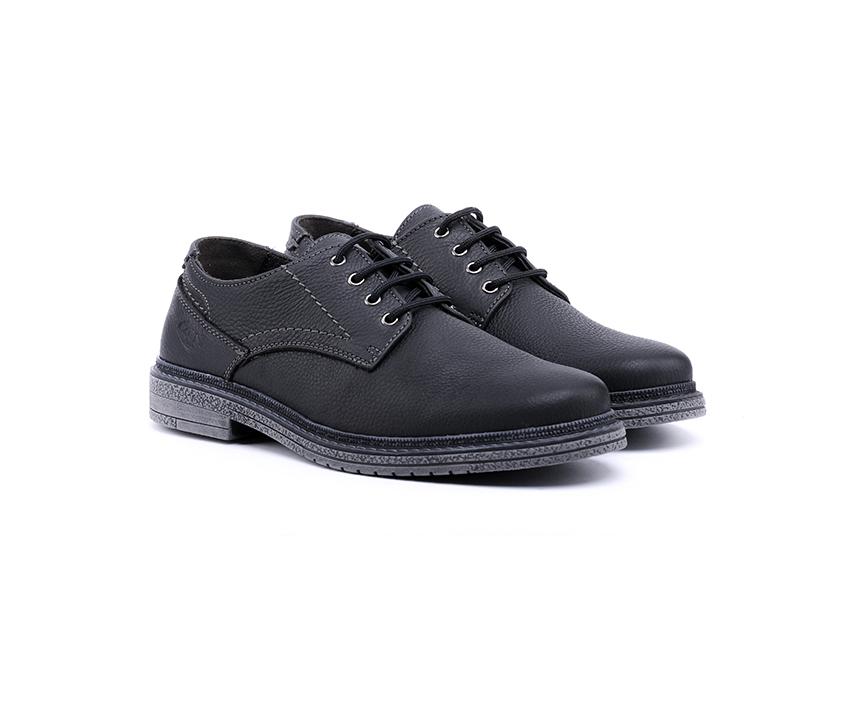 Мъжки обувки от естествен набук в черно-328
