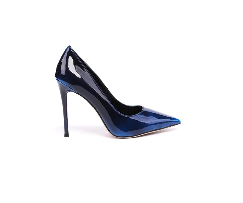 Елегантни дамски обувки в тъмно синьо 902/1