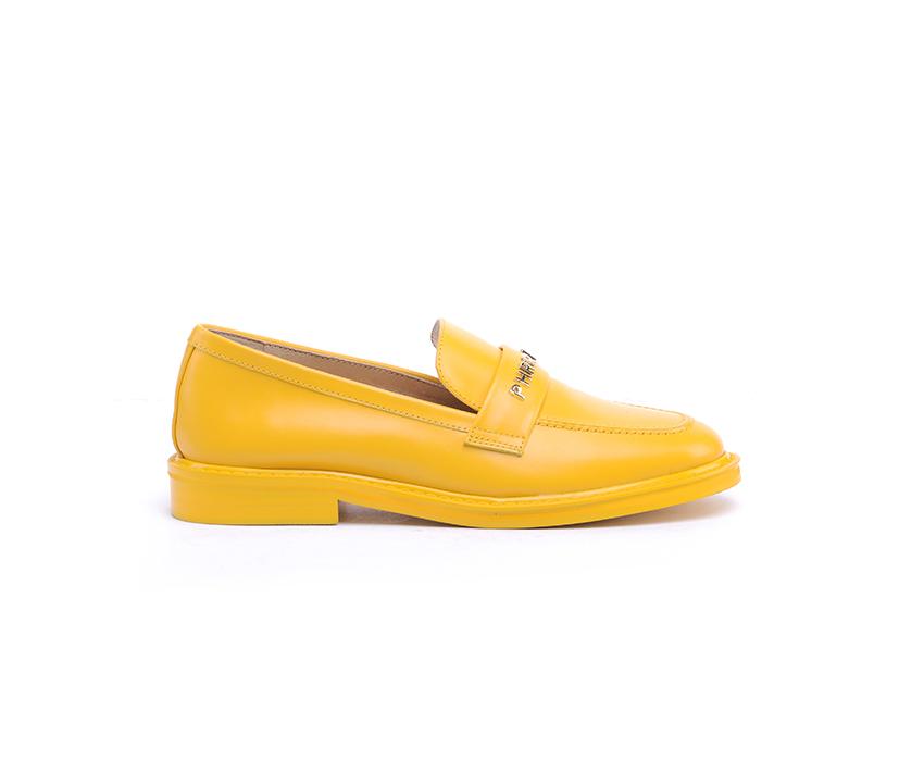 Дамски мокасини в жълто от естествена кожа DIMA/55