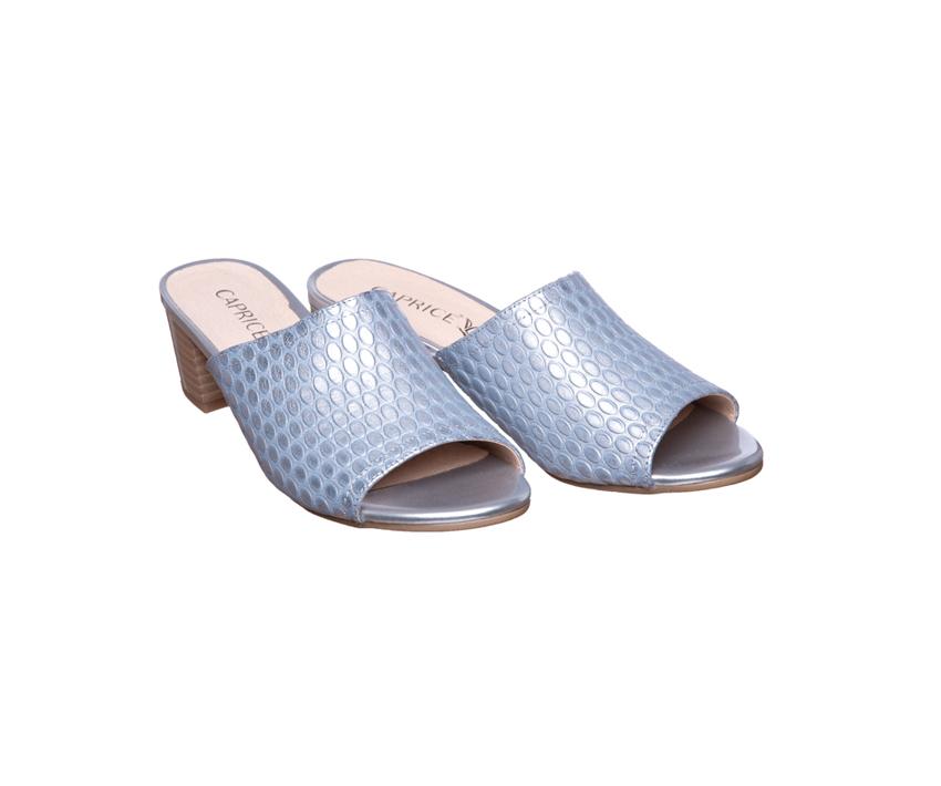 Дамски чехли от естествена кожа CAPRICE it blue