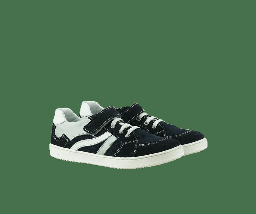 Юношески обувки от естествен син велур (Размер: 30-35)