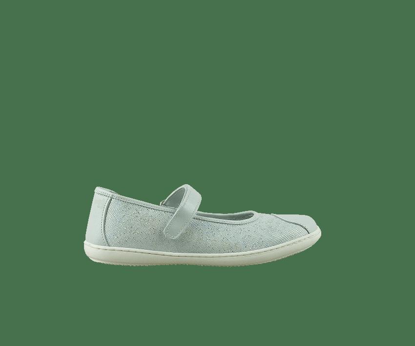 Юношески обувки от ефектна кожа в сребристо (Размер: 30-35)