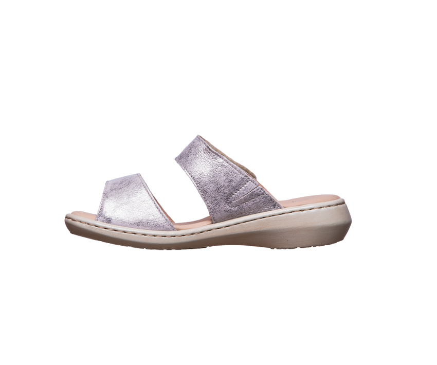 Дамски чехли от естествена кожа CAPRICE taupe