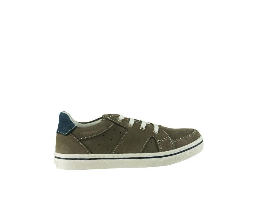 Детски спортни обувки от естествен набук в цвят тъмно таупе (Размер: 30-35)