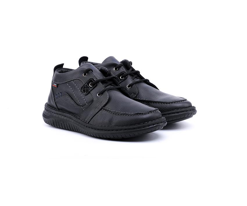 Мъжки боти от черен шегрен -345
