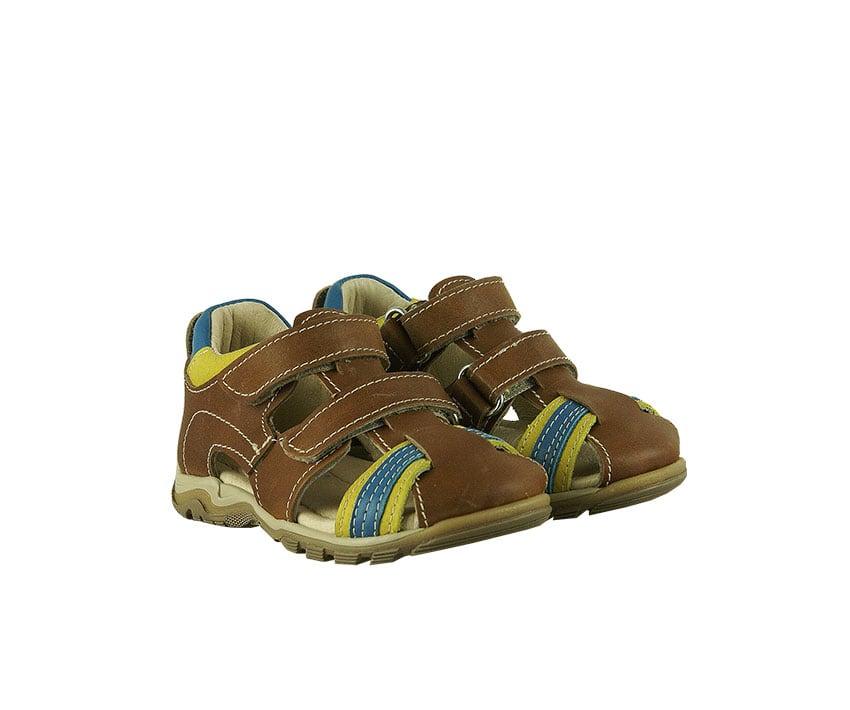 Детски сандали в цвят куйо от естествена телешка напа
