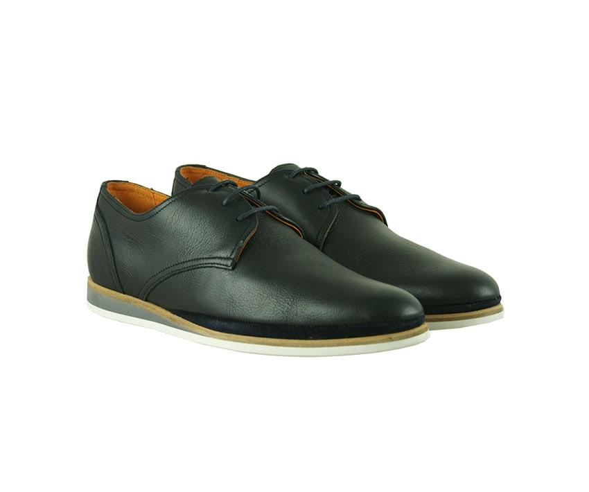 Ежедневни мъжки обувки от естествена кожа в синьо