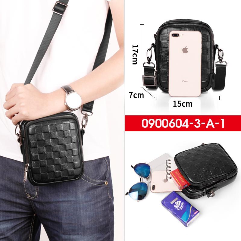 Мъжка чанта от естествена кожа в черно 604/3А