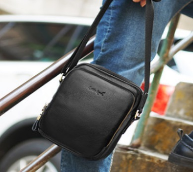 Стилна мъжка чанта в черно - 0900